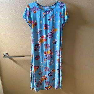 Casual Blue Asian-Inspired Shirt Dress